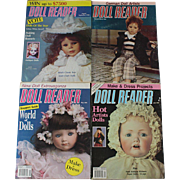 REDUCED Doll Reader Magaziness from 1990s Four Issues Free US Media Shipping