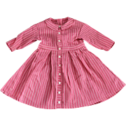 SALE Doll Dress Pink Woven Stripe Sweet German Made