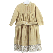 SALE Finest Wool Completely Hand Stitched Child or Large Doll Dress