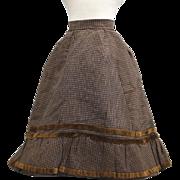 REDUCED Antique French Fashion Doll Skirt Silk & Velvet