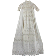 SALE Christening Dress Lavish Laces and Embroidery Pin Tucks Breathtaking Example