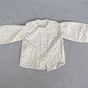 REDUCED Early French Fashion Blouse Hand Stitched Gorgeous Detail