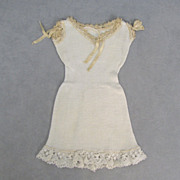 SOLD Antique Chemise Medium Size Knitted with Lace - Red Tag Sale Item
