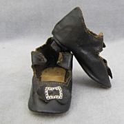 REDUCED Antique Doll Shoes with Heels 3 Inches Long