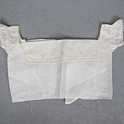 SOLD Antique Pristine Doll Corset Cover or Camisole Large Size