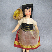 REDUCED All Bisque Doll House Doll Germany Original Costume