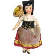 SALE All Bisque Doll House Doll Germany Original Costume