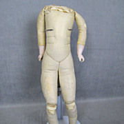 REDUCED Kestner Factory Doll Body Bisque Arms Kid Leather