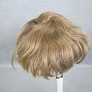"REDUCED Antique Mohair Doll Wig Light Brown Wefted 12"" Head for Baby or Toddler"