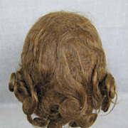 REDUCED Antique Human Hair Doll Wig Brunette Excellent Condition