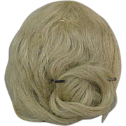 REDUCED Antique Mohair Doll Wig Blonde with Pate Small Size