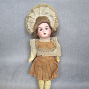 "REDUCED German Bisque 8"" Child Great Costume & Wig Factory Original"