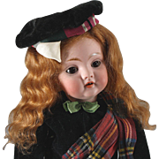 """SOLD Kestner #143 Scot Girl Doll Cabinet Size 12"""" Gorgeous Redhead"""