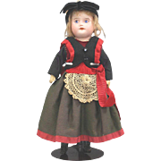 REDUCED SFBJ 60 Doll All Original Normandy Costume Painted Eyes