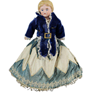 SALE German Bisque Molded Hair Doll Gorgeous Costume 7 Inches