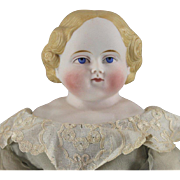 REDUCED Parian Type German Bisque Simon & Halbig Doll Beautifully Dressed