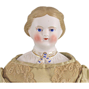SALE Parian Type Portrait Doll Cabinet Size Lady