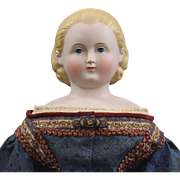 """REDUCED German Parian """"Alice in Wonderland"""" Exposed Ears Hair Band"""