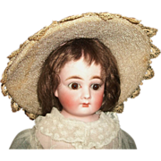 Early Vintage Lace, Straw Weave Doll Hat