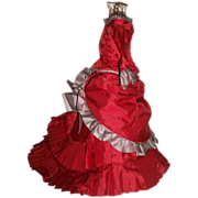 Wonderful Vintage Made French Fashion Doll Dress