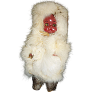 "Cute 8""  Vintage Eskimo Baby Doll w Fur Coat"