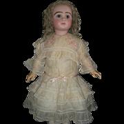 Beautiful Antique Soft Silk French Doll Dress, TLC