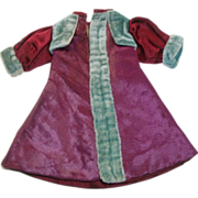 Beautiful Antique Silk and Velvet French Fashion Doll Coat