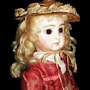 Wonderful Antique Doll French or German Straw Hat, French Fashion, French Bebe