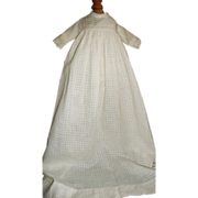 Nice Antique White Cotton Weave Baby Doll Gown