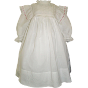 Lovely Antique White Cotton Dress, Large Doll, Kestner, Handwerck