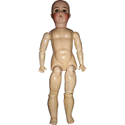 "23"" Antique German Bisque Doll, CM Bergmann,  Dress"