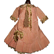 Beautiful Silk French Bebe Doll Dress