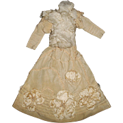 Fabulous Antique French Fashion Doll Dress,
