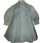 Wonderful Early Chambray Doll Dress, Character