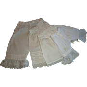 4 Pair of Antique Doll Pantaloons