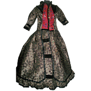 Lovely Early Made Large Fashion / Lady Doll Dress,