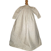Lovely Antique Wool Flannel Doll Gown