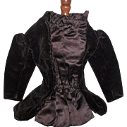 Fabulous Purple Velvet Antique  French Fashion Coat