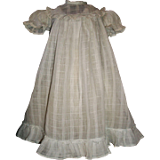 Lovely Organdy Antique Doll Dress