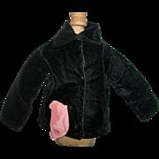Wonderful Antique Black Velvet Fashion / Character Doll Jacket