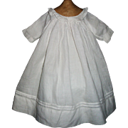 Pretty Antique White Lawn Doll Dress, Kestner, Handwerck