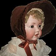 Lovely Early Vintage Velvet Doll Bonnet