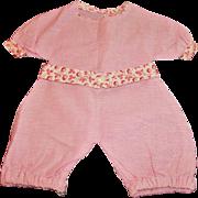 Sweet Vintage Pink Cotton Doll Romper
