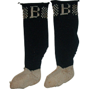 SOLD Tiny Pair of Early Burson Doll Stockings