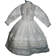 Lovely Snowy White Cotton Doll Dress, China, Lady