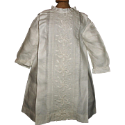 Lovely Vintage White Linen Doll Dress