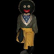 Nice Early Vintage Black Cloth Doll