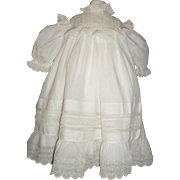 Beautiful Antique Large Batiste Doll Dress