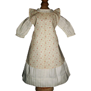 Lovely Vintage Made Doll Dress w Calico Apron, China