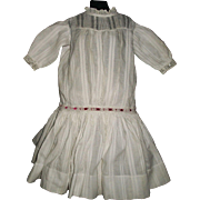 Pretty Antique Drop Waist Doll Dress, Kestner, Handwerck